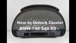 BMW cluster unlock unit test diagram X5 540 M5 740iL e38 e39 e53 bimmer