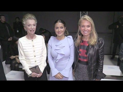 Salma Hayek, Janelle Monae, Jessica Hart and more at Giambattista Valli Fashion Show in Paris