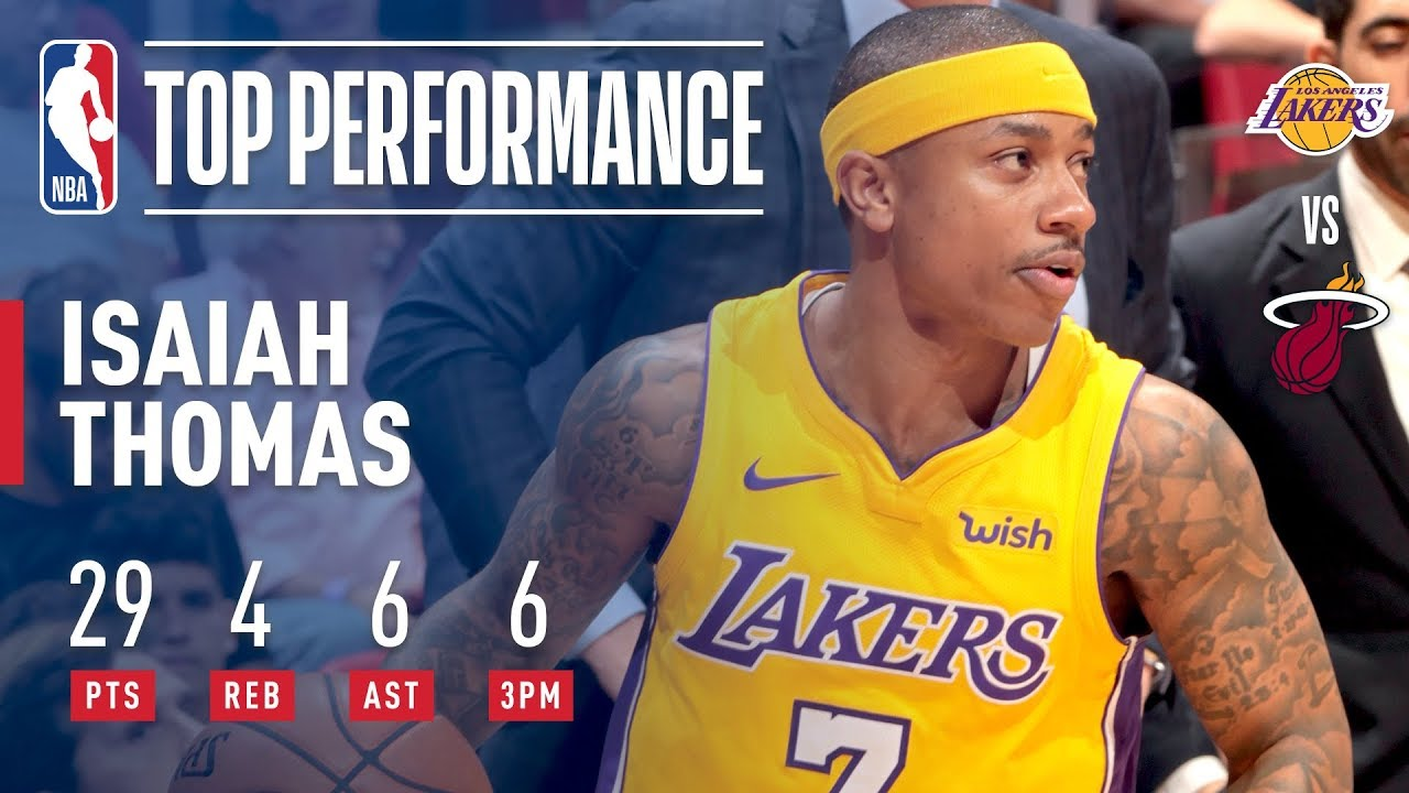 size 40 33f78 7d8b1 Isaiah Thomas Leads the Lakers With a Season-High 29 Pts! | March 1, 2018