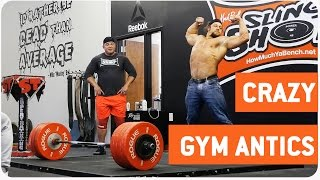 Guy Does Crazy Weightlifting Workout | Deadlifts and Backflips