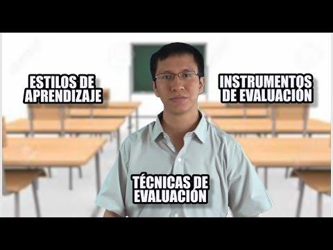ESTILOS DE APRENDIZAJE, TÉCNICAS E INSTRUMENTOS DE EVALUACIÓN