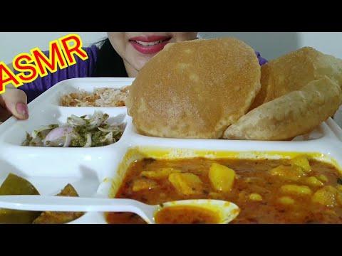 PURI BHAJI ASMR | INDIAN FOOD EATINGSOUND | DETECTIVE BITES