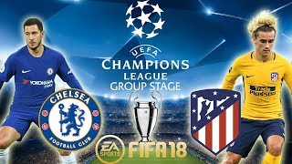 FIFA 18 Chelsea vs Atlético Madrid | Champions League Group Stage 2017/18 | PS4 Full Match