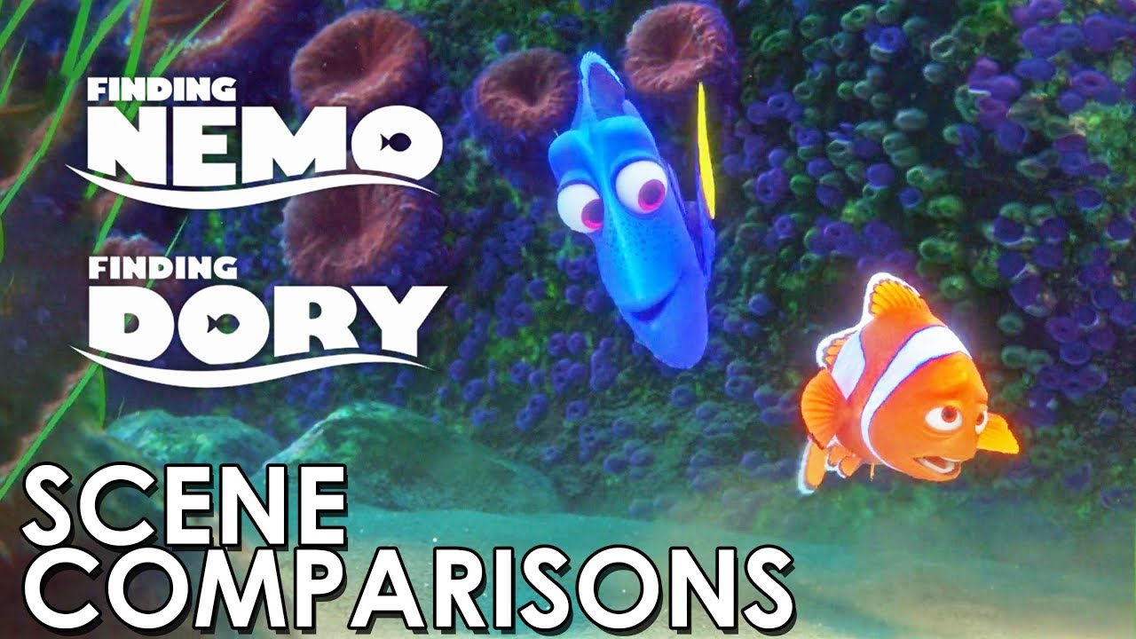 Finding Nemo 2003 And Finding Dory 2016 Scene Comparisons Youtube