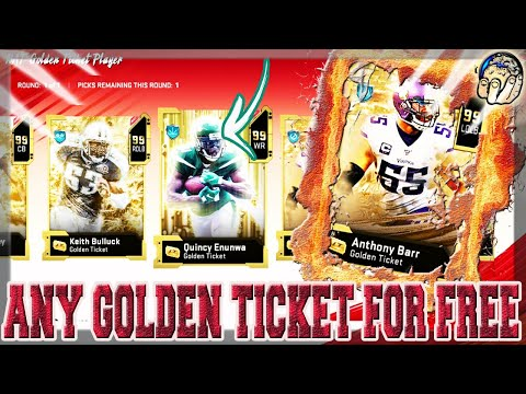 FREE GOLDEN TICKET PACK! CHOOSE ANY 1 OF 24 GOLDEN TICKETS FOR FREE! [MADDEN 20 ULTIMATE TEAM]