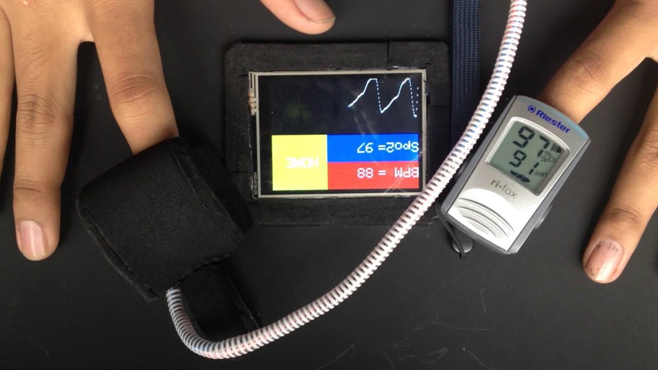 PPG Pulse Oximetry spo2 Arduino Mega