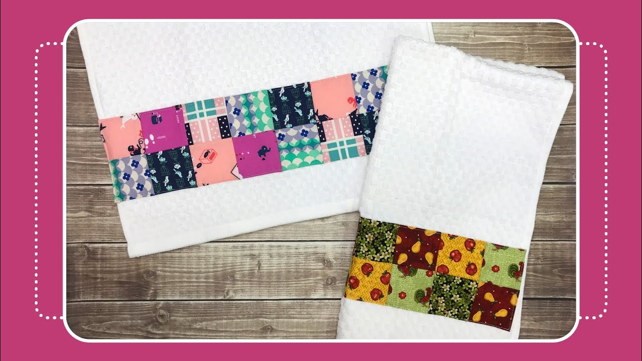 Kitchen Towels Pendant Light For How To Sew Patchwork Hand Towel With Crafty Gemini Youtube