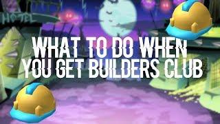 Qué hacer cuando se obtiene el club de constructores de constructores ROBLOX