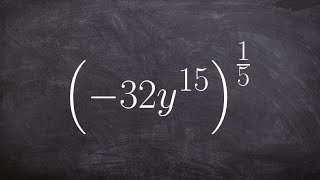 Algebra 2 - Simplify an expression by using the power to product rule with rational exponents