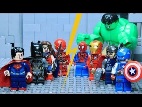 LEGO Justice League VS Avengers Part 1: Hulk VS Superman