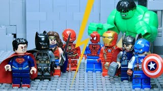 Video LEGO Justice League VS Avengers Part 1: Hulk VS Superman download MP3, 3GP, MP4, WEBM, AVI, FLV September 2018