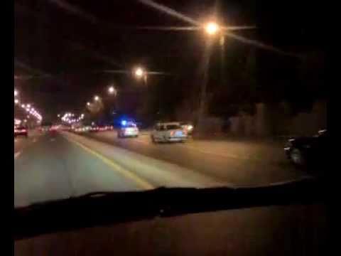 Yol Polisi maşını qovur