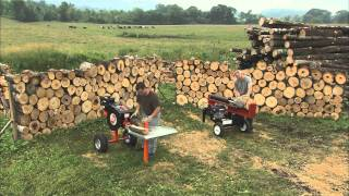 Split Off! DR RapidFire vs. 34-Ton Hydraulic Wood Log Splitter