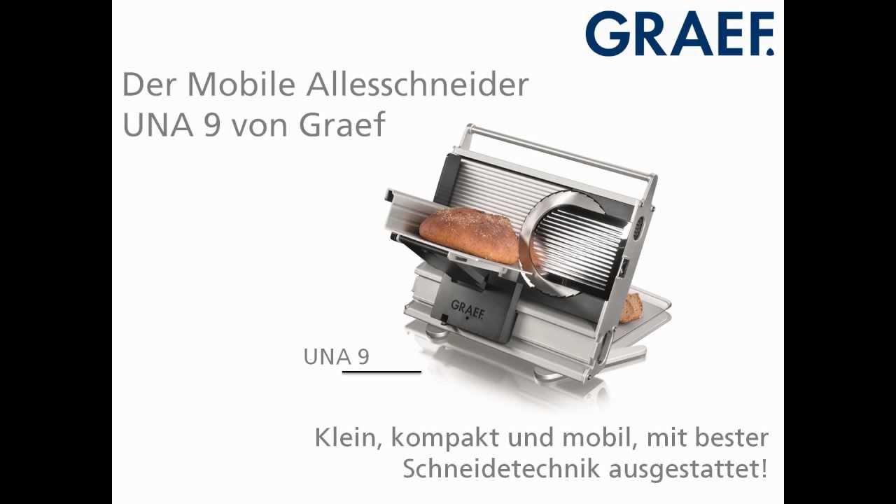 GRAEF UNA 9 90 mobiler Allesschneider Aufschnittmaschine Brotmaschine klappbar