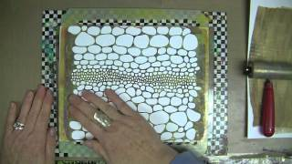 Patti Parrish, iStencils & A Gelli Plate