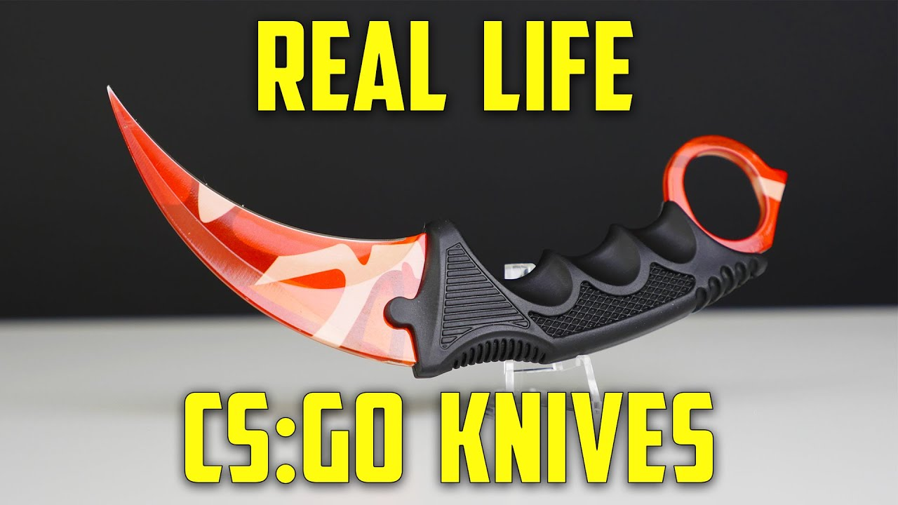 cs go knives in real life karambit elemental knives part 1
