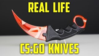 CS:GO KNIVES IN REAL LIFE!! (Karambit Elemental Knives) - Part 1