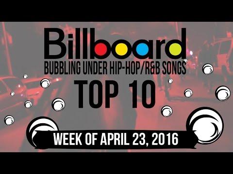 Top 10 - Billboard Bubbling Under Hip-Hop/R&B Songs   Week of April 23, 2016