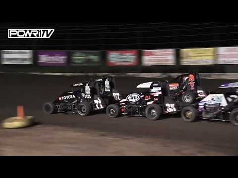 Check out POWRi Lucas Oil National and POWRi West Midget highlights during the final night of the 7th Annual Turnpike Challenge at Port City Raceway, Inc. - dirt track racing video image