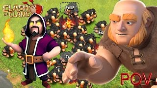 Giant clash of clan - 144 max level 7 giants! | clash of clans attacks! || coc || clash of clans ||