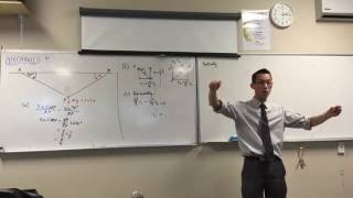 Mechanics (6 of 7: Finding the Forces acting on the particle vertically)