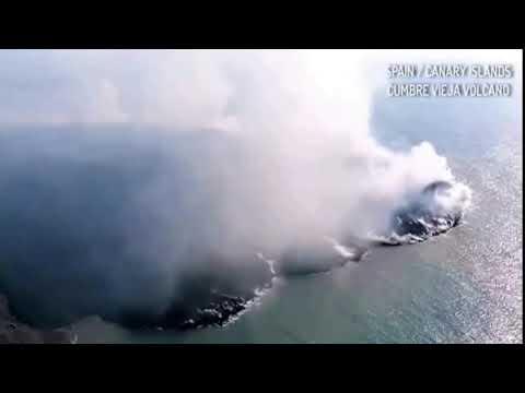 कैनरी द्वीप की ज्वालामुखी में दो नये छेद नजर आये