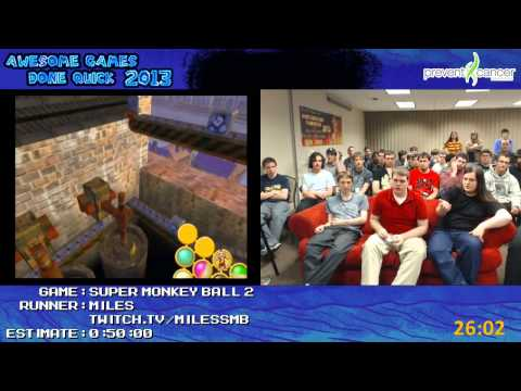 Super Monkey Ball 2 - Speed Run in 0:37:31 by Miles (Master Levels @ end) Live at AGDQ 2013 [GCN]