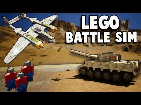 Planes vs Tanks in LEGO BATTLE SIMULATOR! Best Game Ever!? (