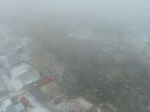 Raw: Over 30 Dead in Kyrgyzstan Plane Crash