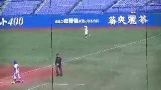2013/04/09 青山学院大・杉本裕太郎外野手のバッティング