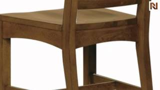 Hekman Side Chair-wood Seat 8-4000