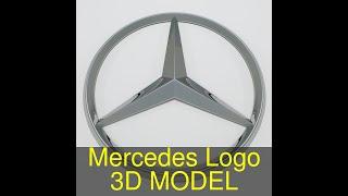 3D Model of Mercedes Logo Review