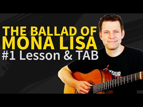How To Play The Ballad Of Mona Lisa Acoustic Guitar Lesson & TAB - Panic! At The Disco