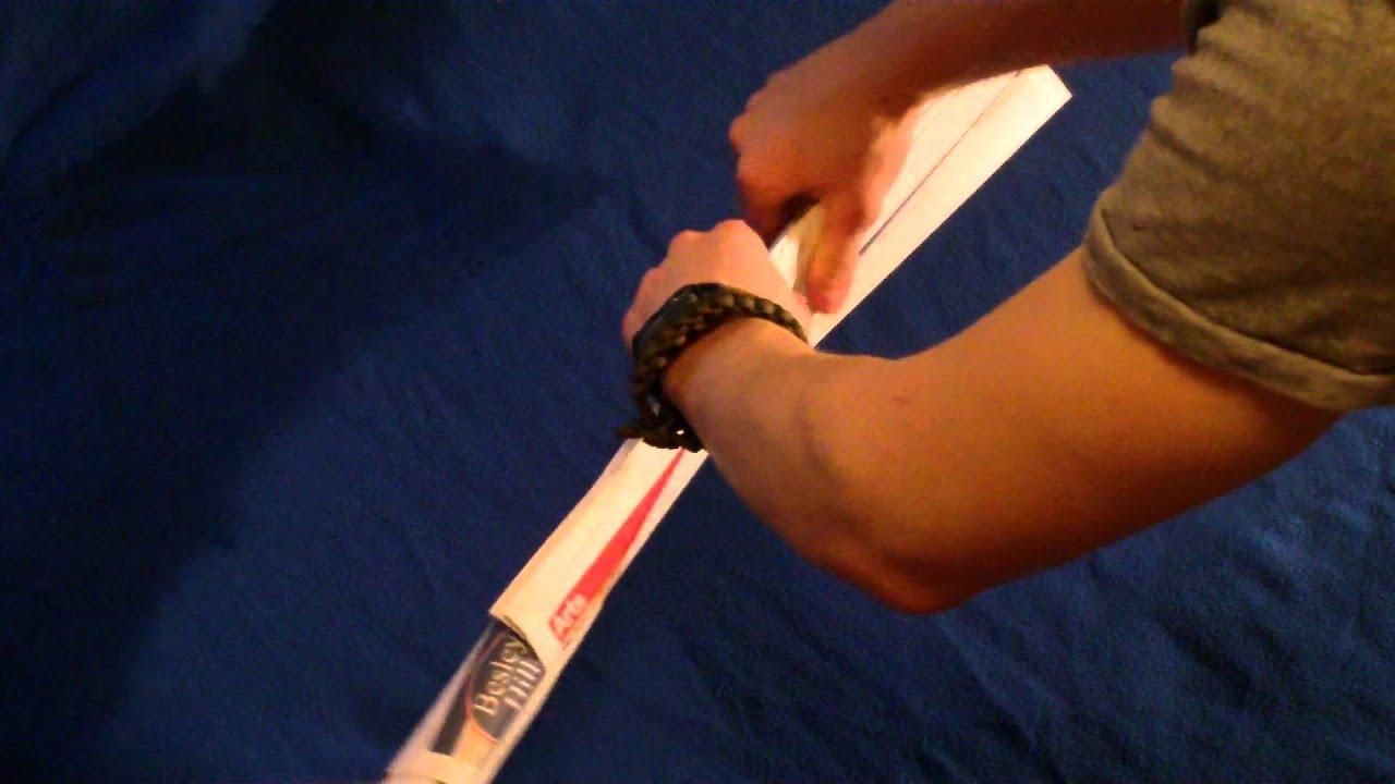 How to make a paper baton (weapon) surviveruk - YouTube