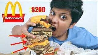 تجربة اغلى برجر من ماكدونالدز!! 200$ !!