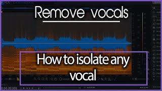 How to Isolate Vocals from Any Song