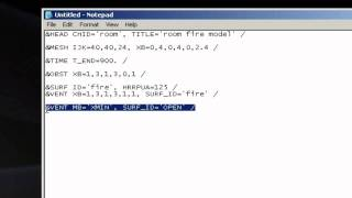 How to create and run a basic Fire Dynamics Simulator (FDS) v5 input file