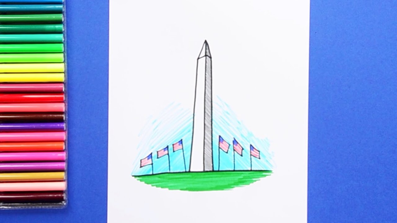 How To Draw The Washington Monument Youtube