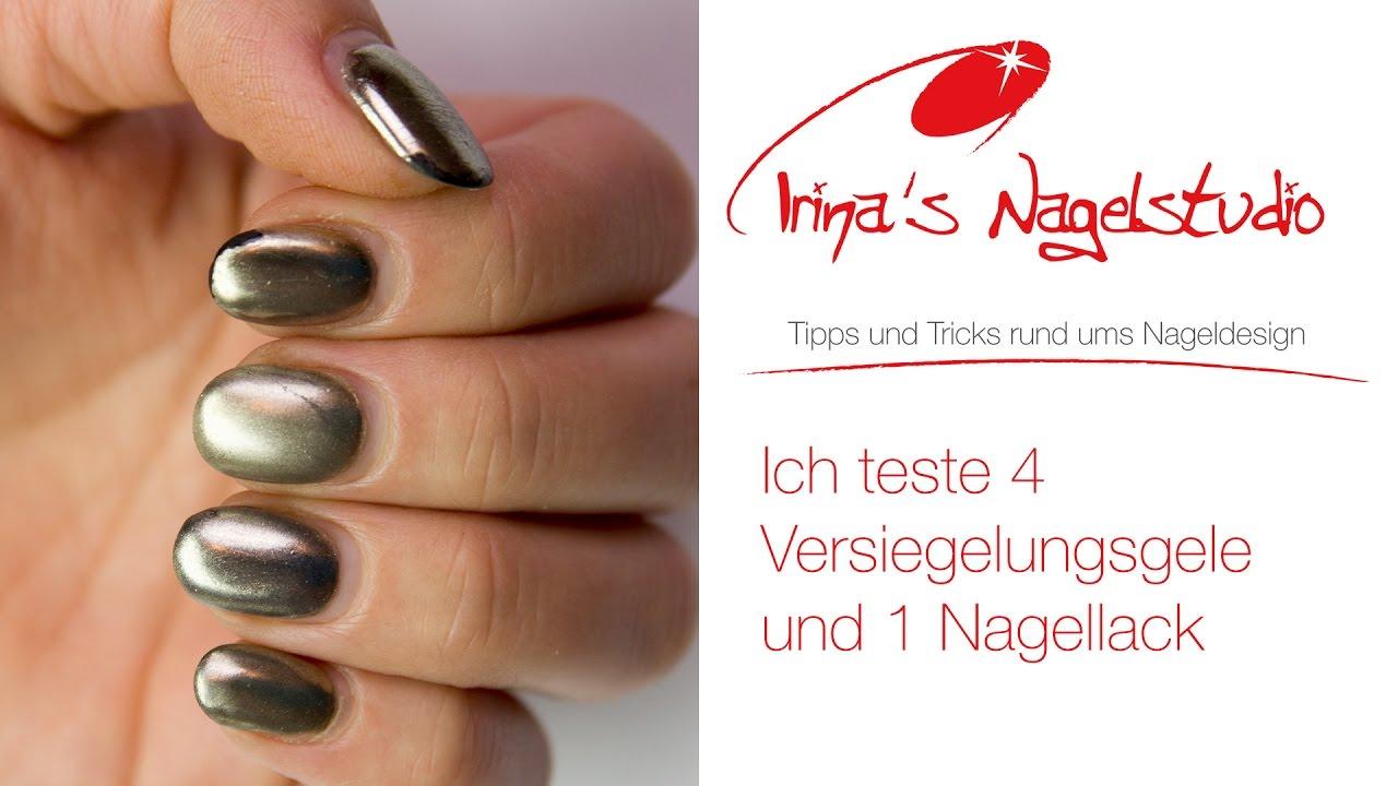 Chrome Pigment unter 4 Versieglungsgels und 1 Nagellack - Irinas ...