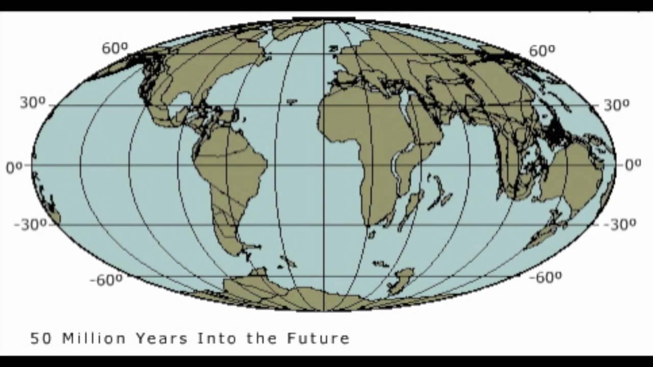 Future plate tectonics 100 million years - YouTube