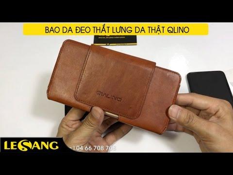 LÊ SANG | Bao da đeo thắt lưng Qlino da thật nguyên miếng siêu cấp, chế tác thủ công