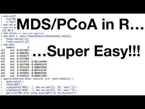 StatQuest: MDS and PCoA in R - YouTube