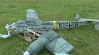 Messerschmitt BF-110 r/c crash
