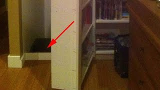 Two Boys Playing In Their House Accidentally Dislodge A Bookshelf Making A Terrifying Discovery