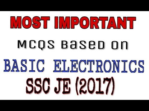 Basic Electronics most important question on HINDI for ssc je ,psu's and various state level exams.