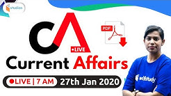 7:00 AM - Daily Current Affairs 2020 Analysis By Krati Ma'am | 27th January 2020