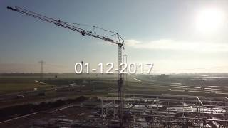 Dronebeelden nieuwe pand Groningen Nefkens & Terwolde - 1 december 2017