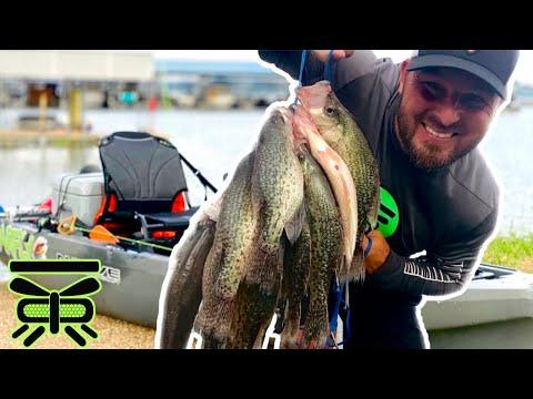 Kayak CRAPPIE Fishing [Bridge Columns] Lake Ray Hubbard