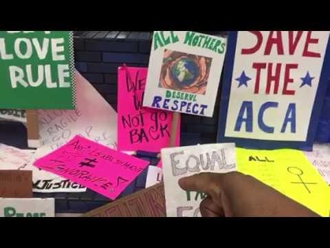 Women's March Oakland 19th Street BART Memorial #womensmarch