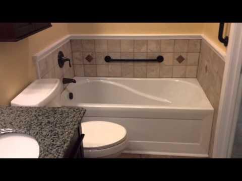 Coolest bathroom remodel with tile shower